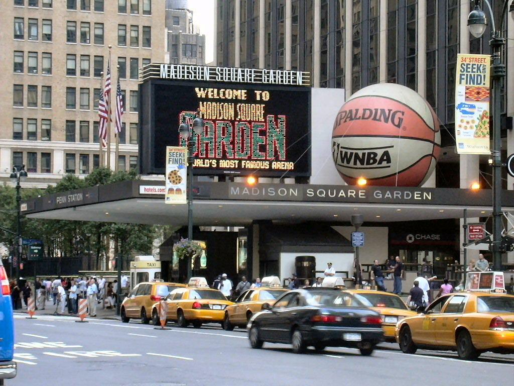 Madison Square Garden New York City Basket Travels