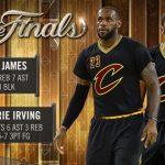 La notte stellare di Irving e Lebron (82 pts) riporta la serie a Cleveland per game 6
