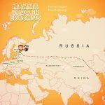 Da Irkutsk a  Ulan-Udé la Transiberiana