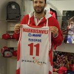"""Sbarca a Reggio l'asso Markoivshili: """"Ho giocato due Final Four di Eurolega"""""""